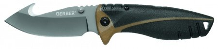 Lenktinis peilis Gerber Myth Folding Sheath Knife, Gut Hook